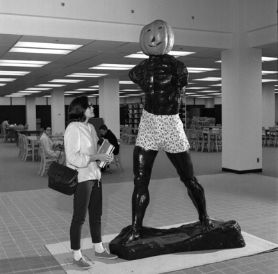 "65-268; Rodin's ""Walking Man"" in Lovejoy Library"