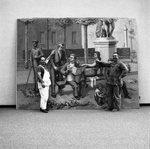 "65-405; Installation of ""Le Grand Luxembourg"" by Jean Helion in Lovejoy Library"