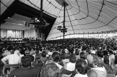 73-5; Interior of MRF Tent and Crowd