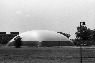 73-43; Raising (Inflating) the Roof of the First Bubble Gym
