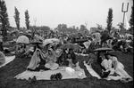 73-438; Lawn Crowd in the Rain at MRF Venue