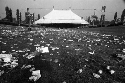 75-58; Lawn Debris after MRF Concert