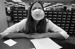 81-213; Bubble Gum Blowing in Lovejoy Library