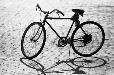 81-339; Bicycle and Shadow