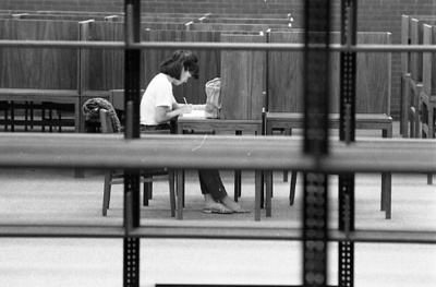 85-41; Student Studying in Library