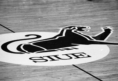 85-235; Cougar Logo on Basketball Court